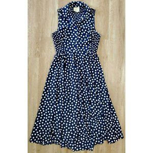 Kate Spade Womens Cloud Dot Blue White Dress 10